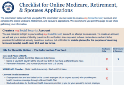 social security medicare card application