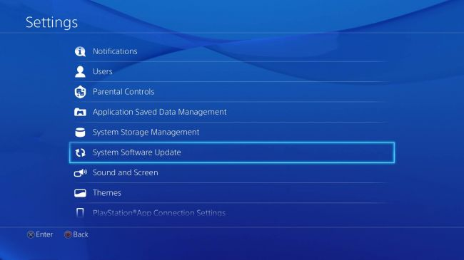 how to update application on ps4