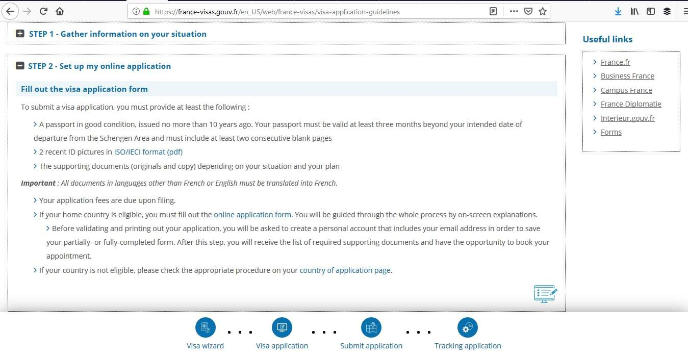 france schengen visa application form online