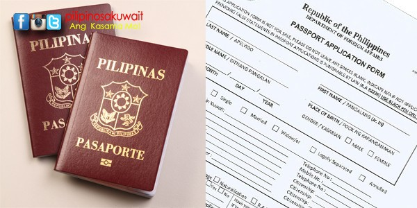 duly accomplished passport application form