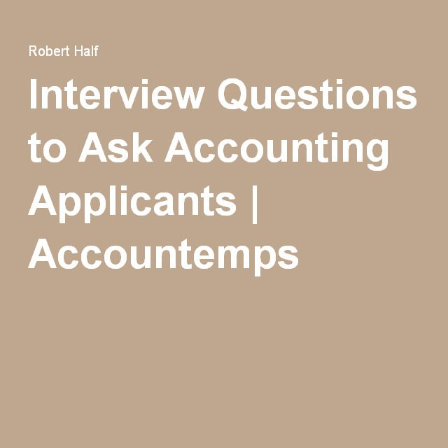 accounting test for job applicants