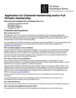 chartered accountants full membership application