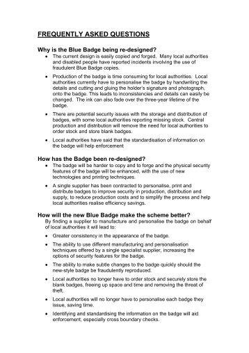 blue badge scheme application form