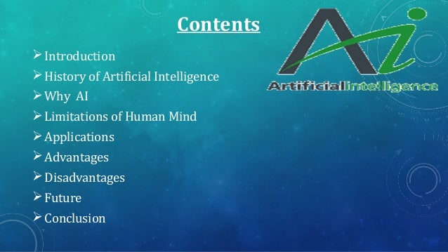 application of artificial intelligence ppt