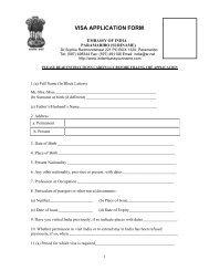 indian embassy visa application form