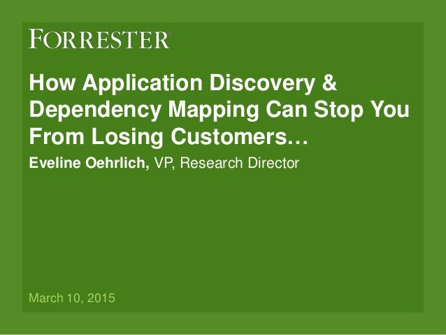 what is application dependency mapping