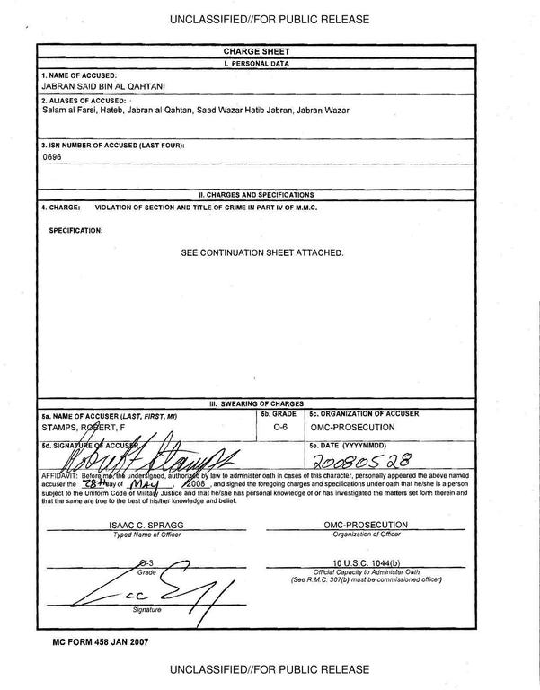 application for dismissal of charges