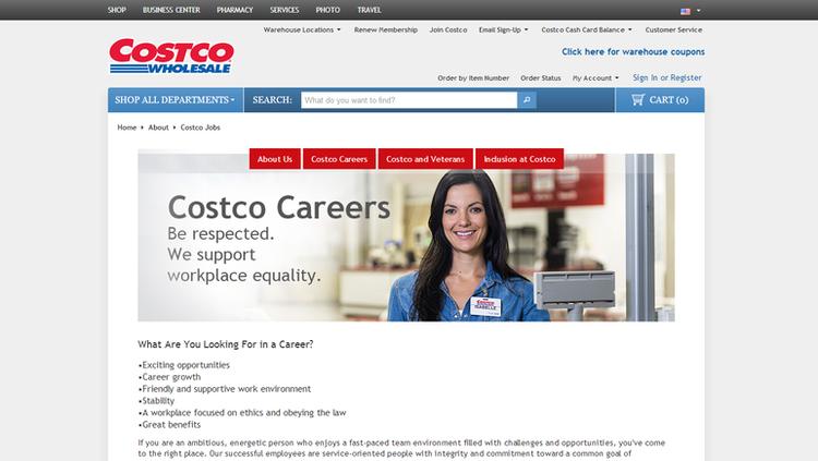 costco job application sign in