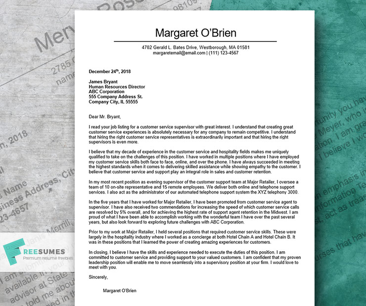 examples of good cover letters for job applications