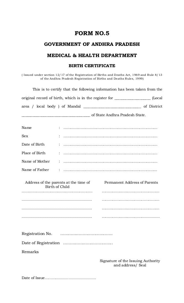 birth certificate vic application form