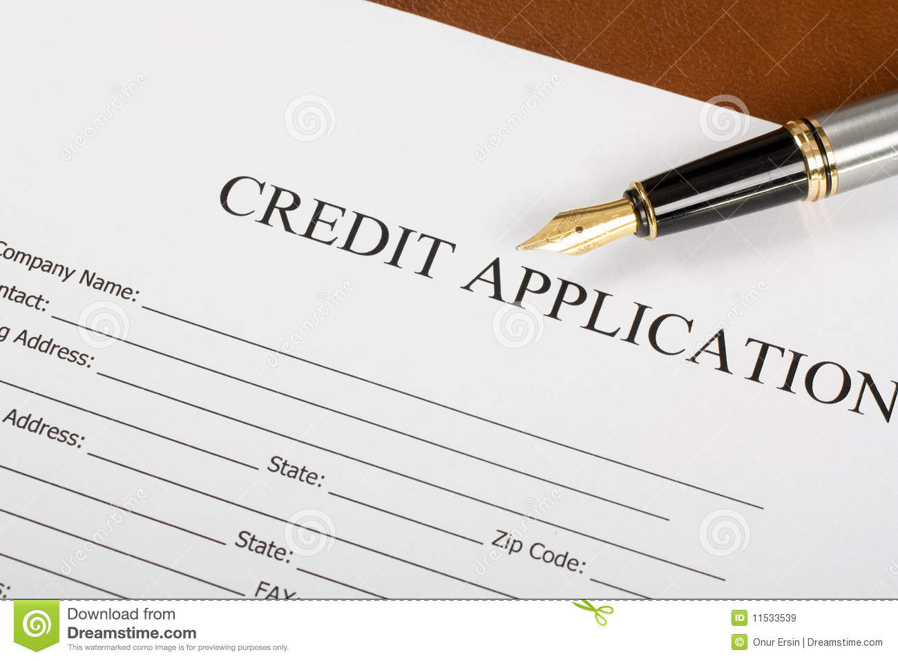 basic credit application form free
