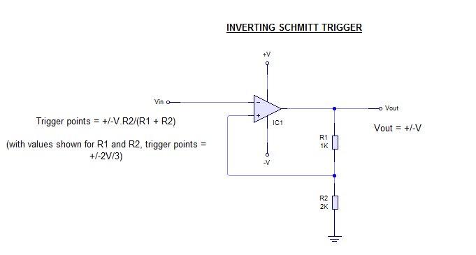 application of schmitt trigger circuit