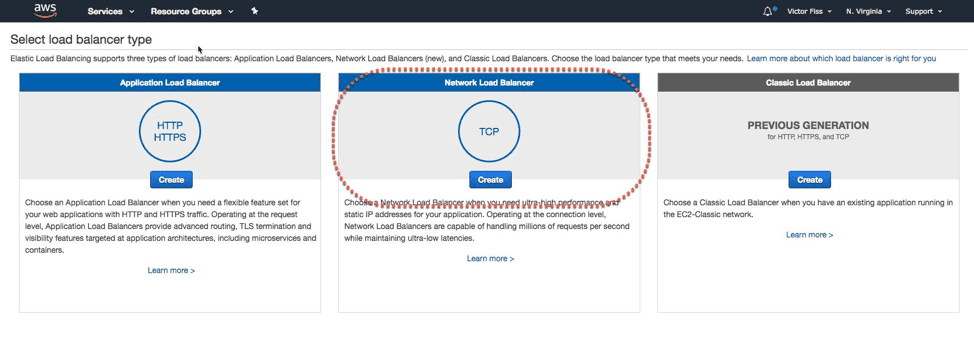 aws create application load balancer