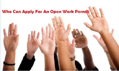 canadian open work permit application