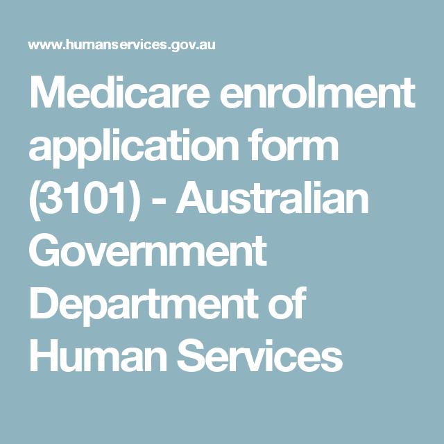 medicare card australia application form