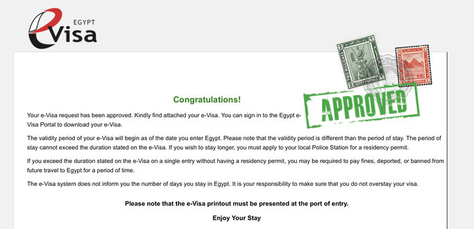 egypt e visa application form