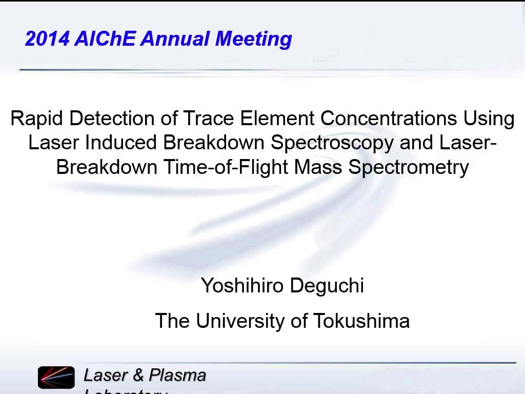 laser induced breakdown spectroscopy applications