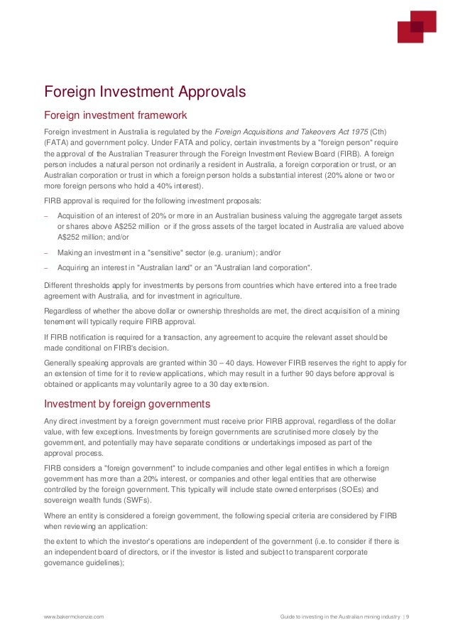 foreign investment review board application