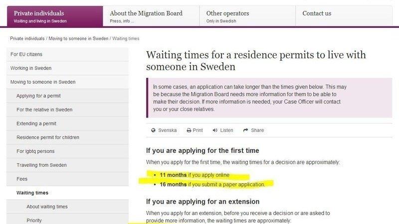 schengen visa application form sweden