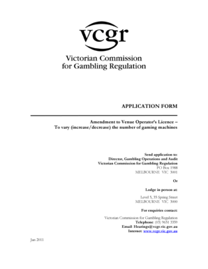 gaming licence victoria application form