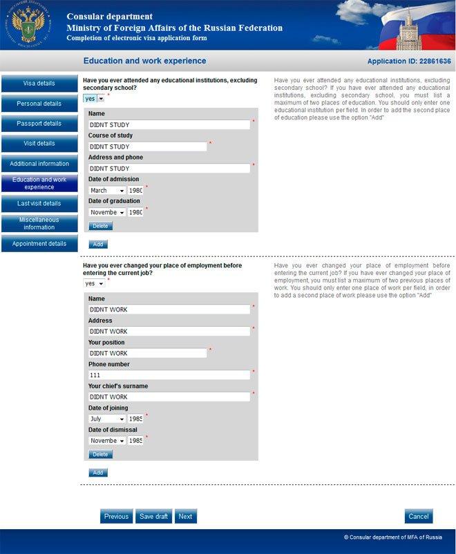 russian visa application form pdf