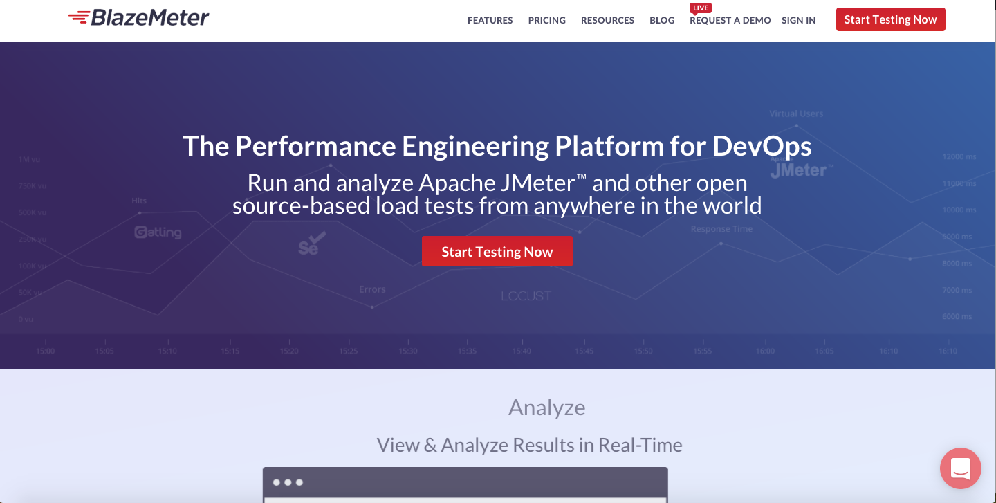 load and performance testing tools for web applications