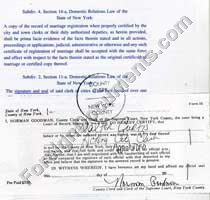 application for certificate of no impediment to marriage