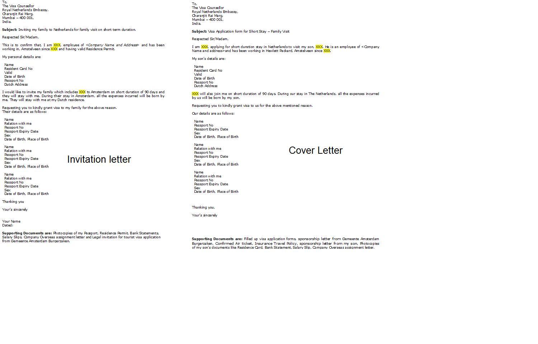 covering letter for business visa application