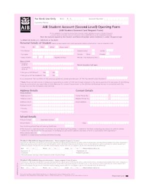 aib current account application form
