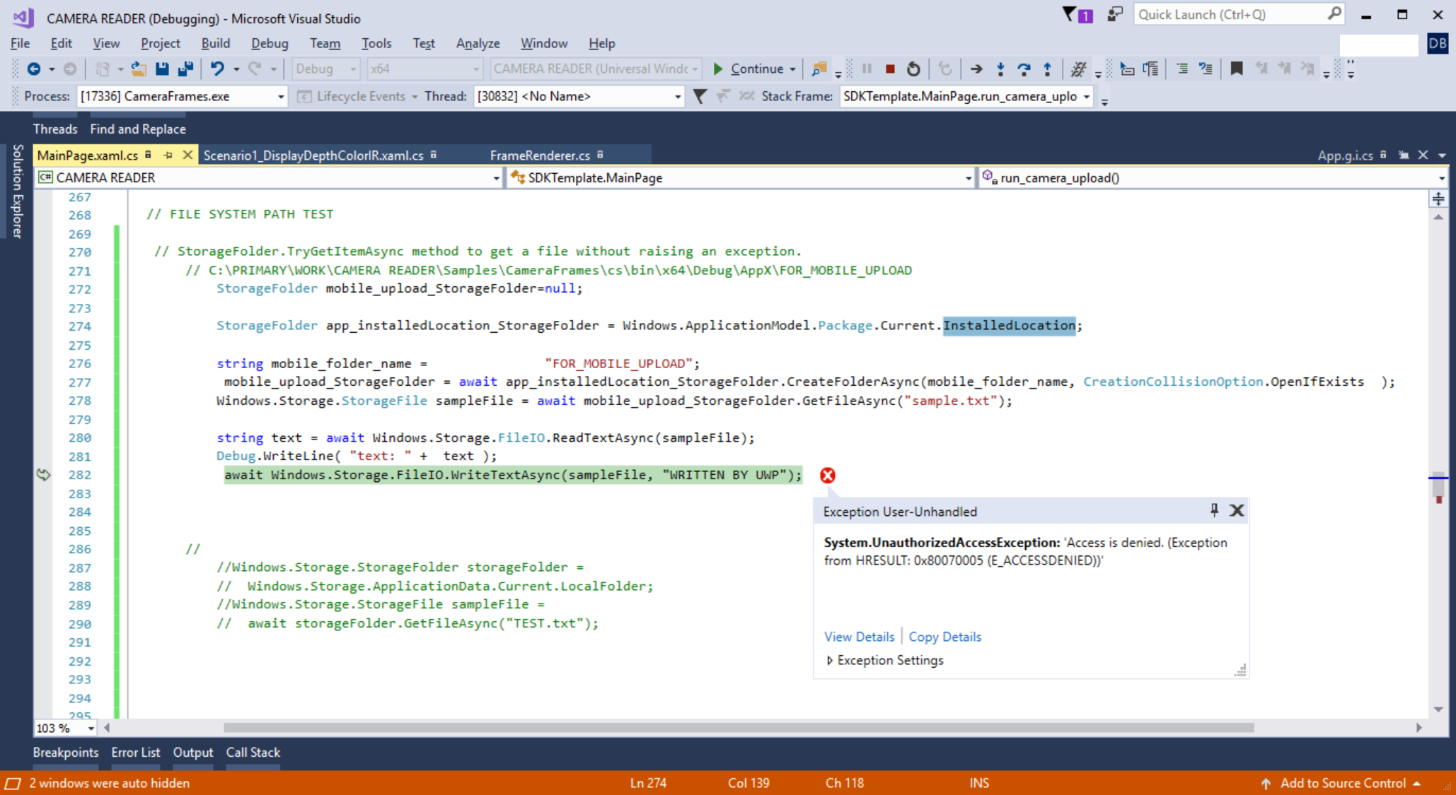access to the path is denied c# windows application