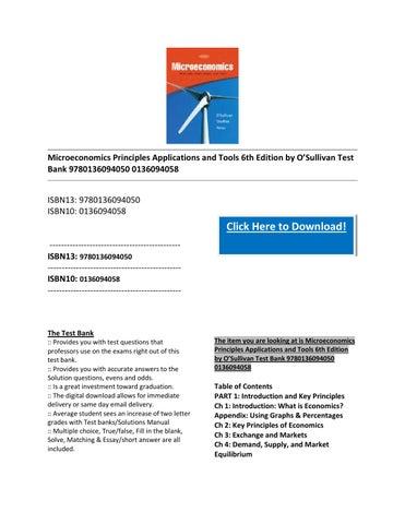 economics principles and applications 6th edition