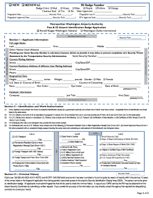 airport security pass application form
