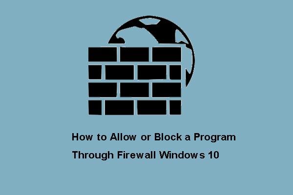 allow a application through firewall