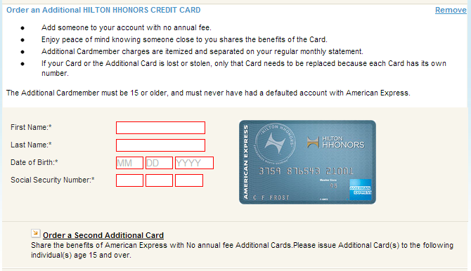 american express credit card application form