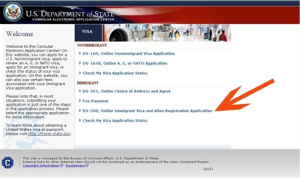 american lottery visa application form