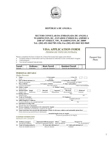 angola visa application form pdf