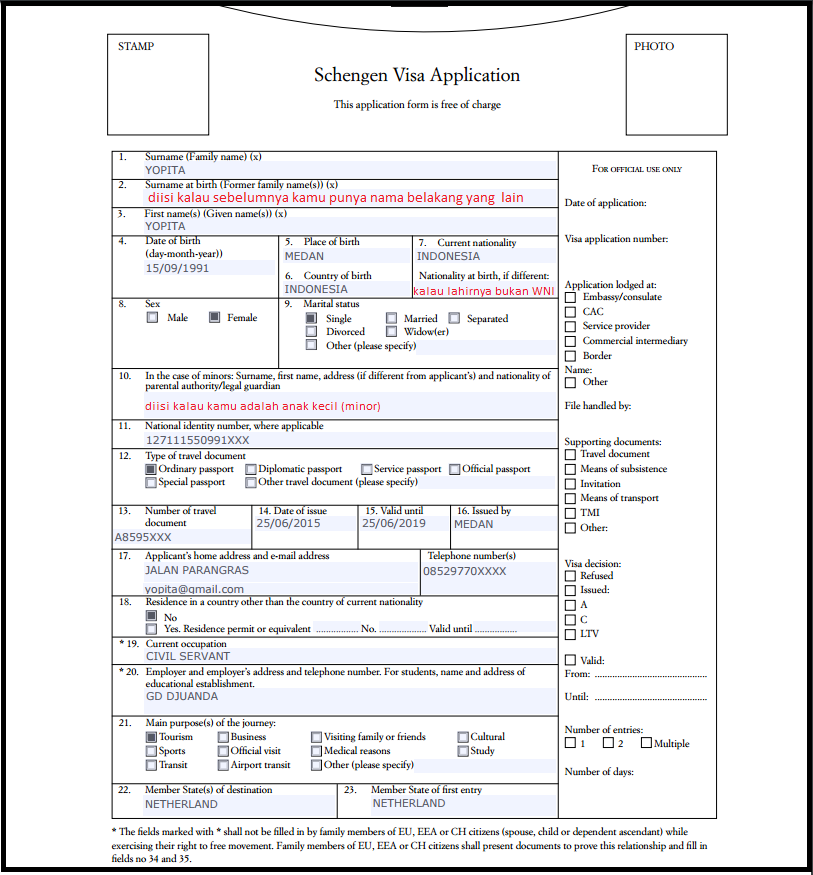 application for schengen visa germany