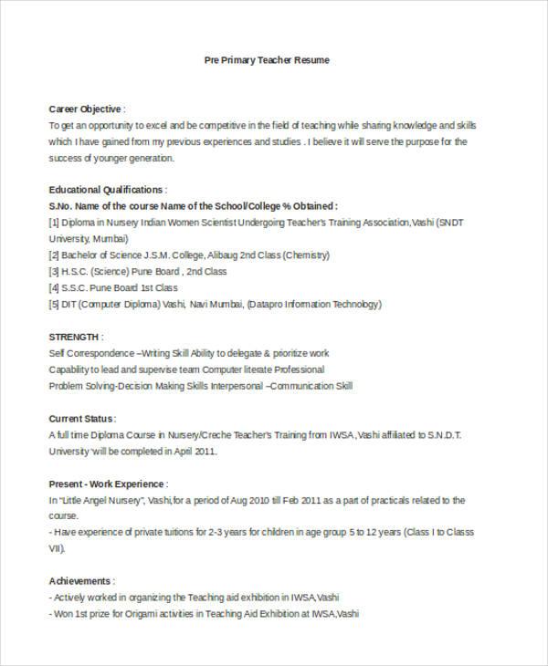 application for teacher job in hindi