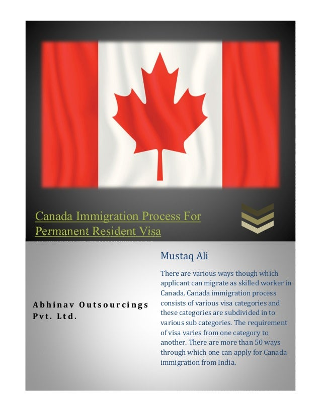 application for travel document permanent resident in canada