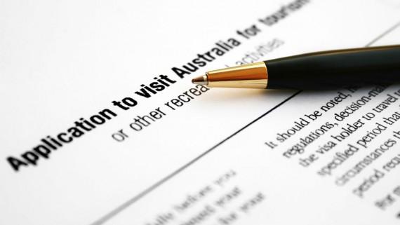 application form visitor visa australia