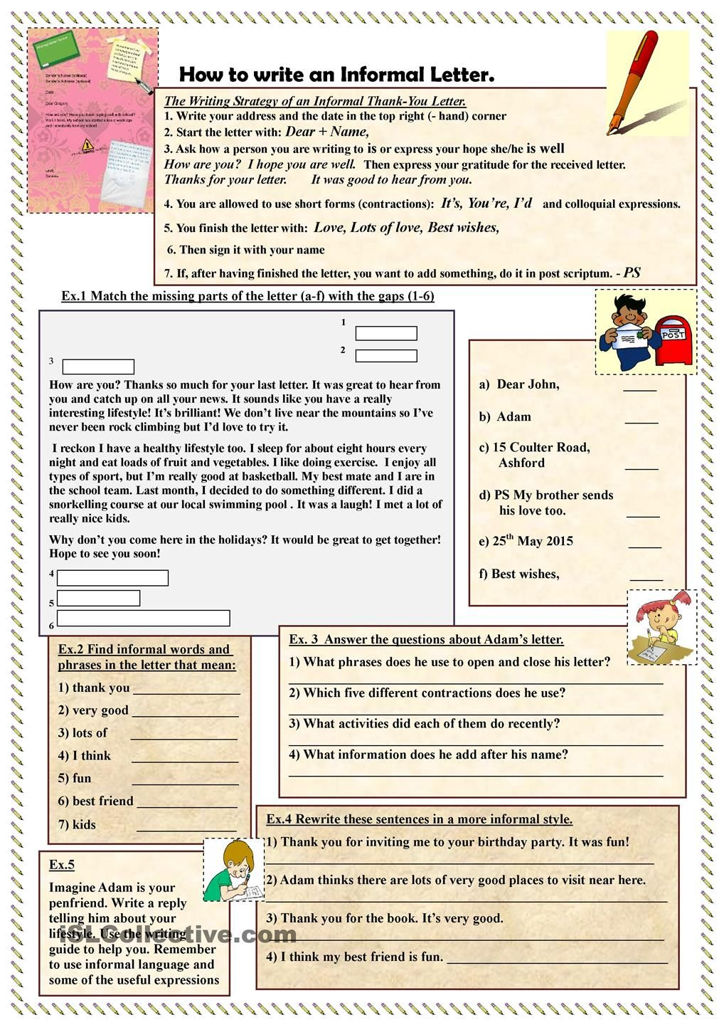 application letter writing in english