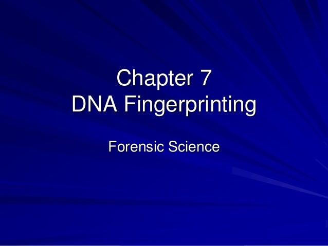 application of dna fingerprinting in forensic science