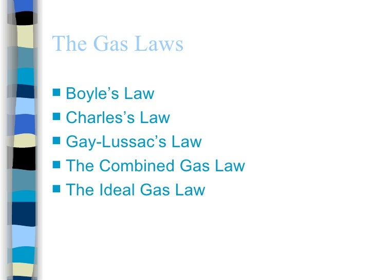 application of gay lussac law