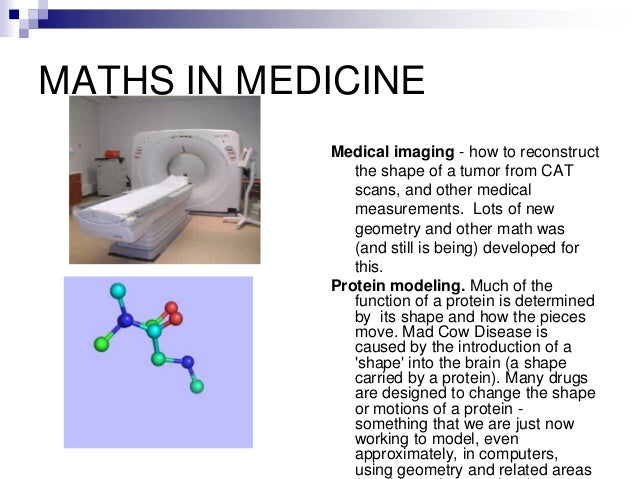 application of maths in medicine