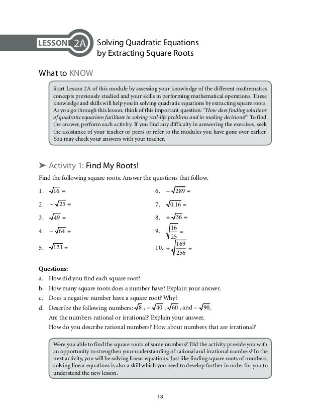 application of quadratic equation in real life situation