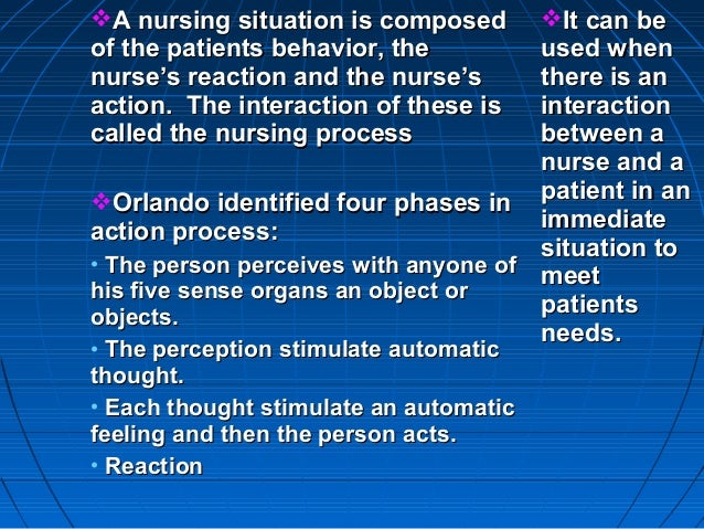 application of theory in nursing process