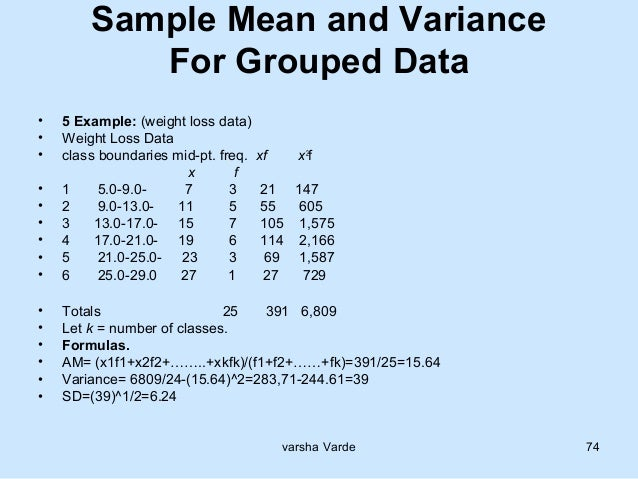 application of variance in statistics