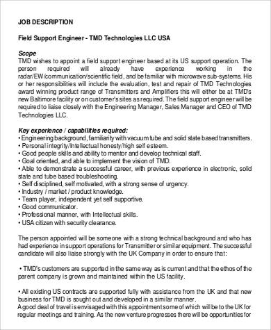 application support technician job description