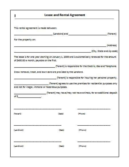 application to rent property forms
