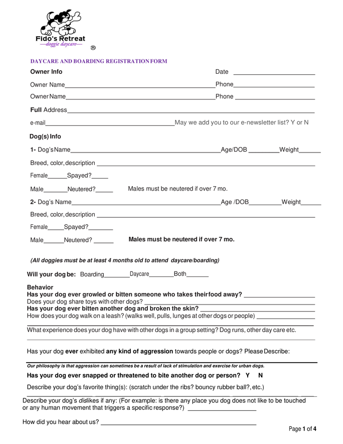 application to transfer registered ownership of dog